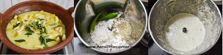 Vazhakkai Senai Erissery / Banana Yam Masala step 5