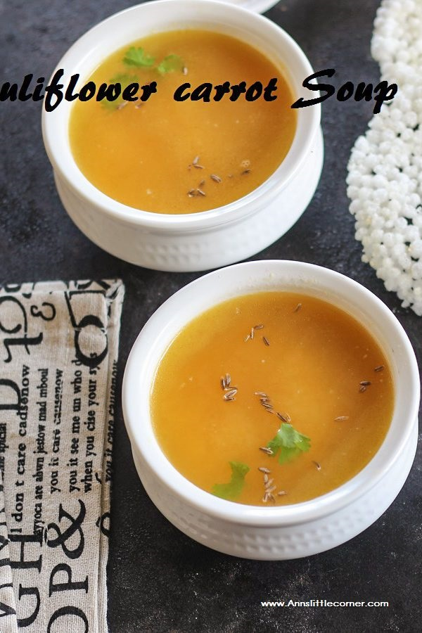 Cauliflower Carrot soup