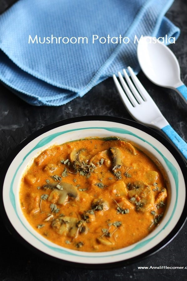 Potato Mushroom Masala