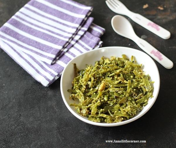 Avarakkai Poriyal / Broad Beans Stir Fry