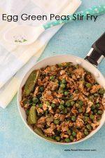 Green Peas Egg stir Fry