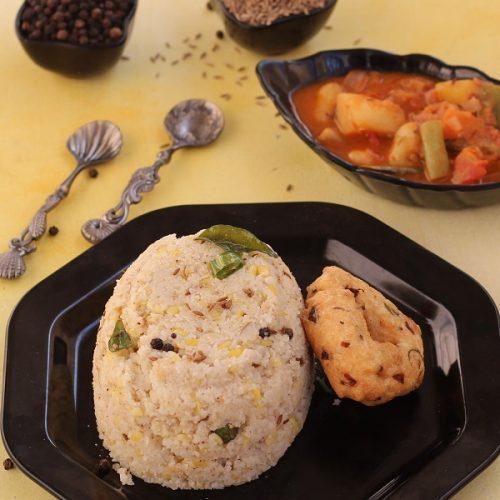 Barnyard Millet Pongal / Kuthiraivali Ven Pongal