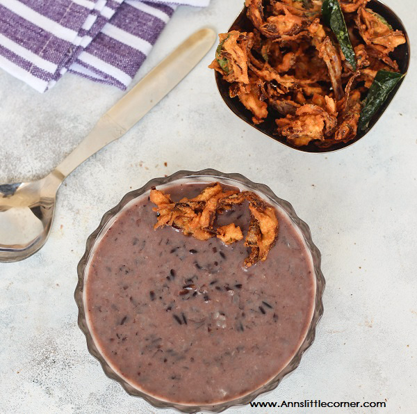 Black Rice Porridge / Kavuni Arisi Kanji