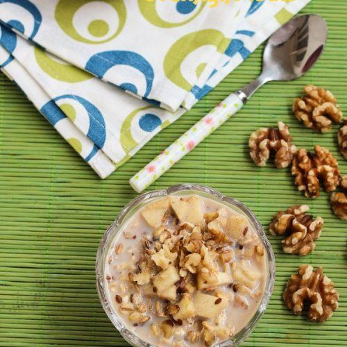 Apple Walnut Overnight Oats