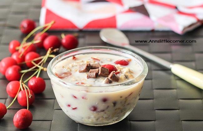Cherry Chocolate overnight oats