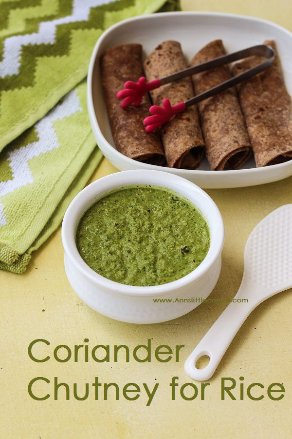 Coriander Chutney for Rice