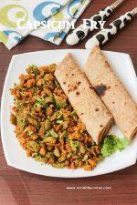 Capsicum Roasted Channa Dal fry