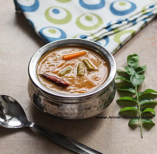 Carrot Beans Sambar