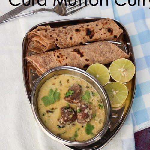 Curd Mutton Curry / Dahi Mutton Curry