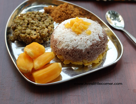 PalaPazha Puttu / Jackfruice Rice Steamed cake