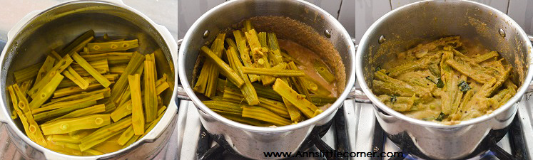 Murungaikai Thoran / Drumstick fry