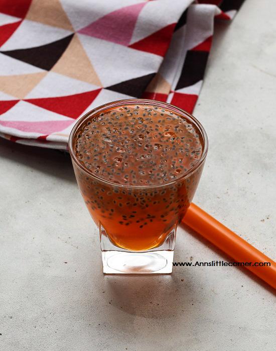 Almond Gum Sabja Juice