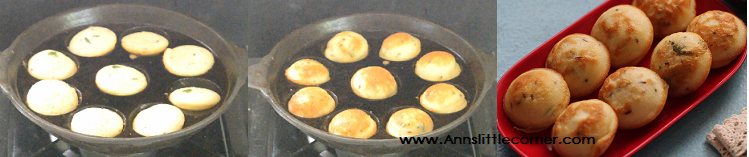 Mini Egg Pancakes / Muttai Paniyaram