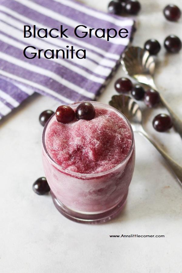 Black Grape Granita