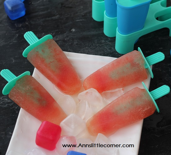 Watermelon Tender Coconut popsicle