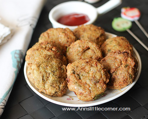 Anchovies Patties / Nethili Meen Cutlet