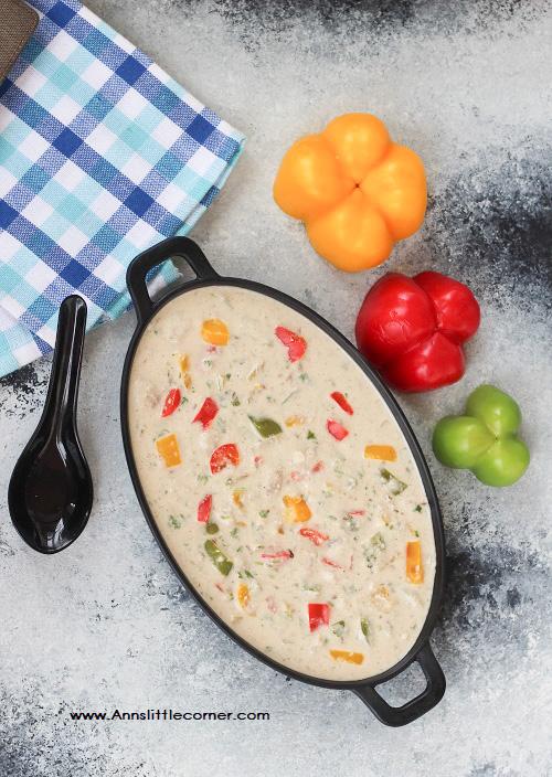 Capsicum white gravy