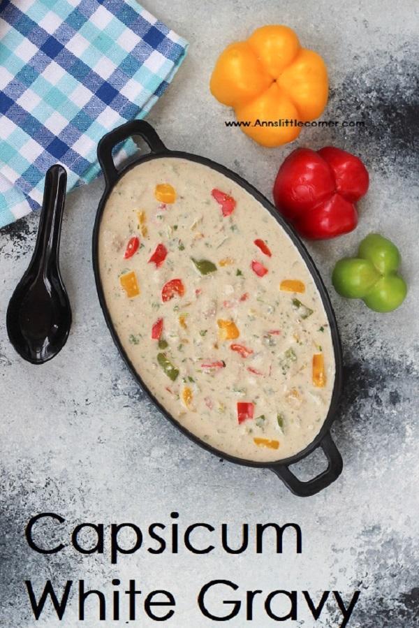 white capsicum gravy