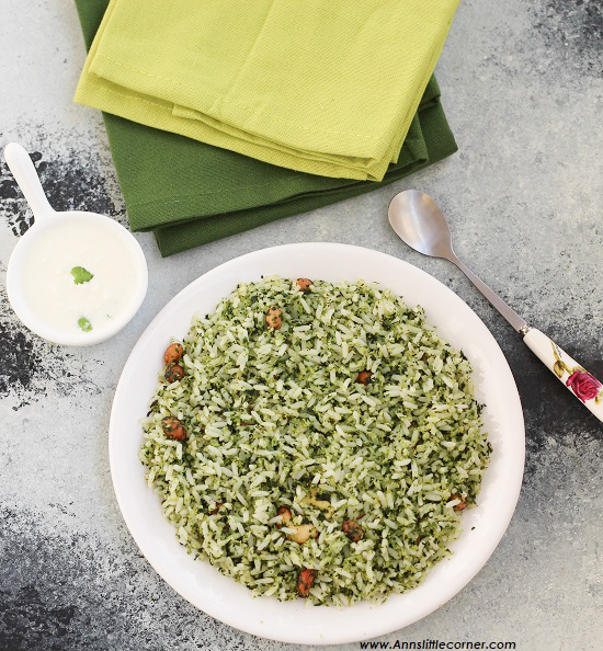 Moringa Leaves Pulao / Drumstick Leaves Pulao