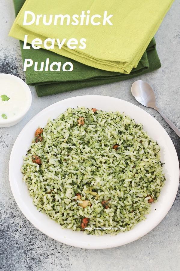 Moringa Leaves Pulao / Drumstick Leaves Pulao