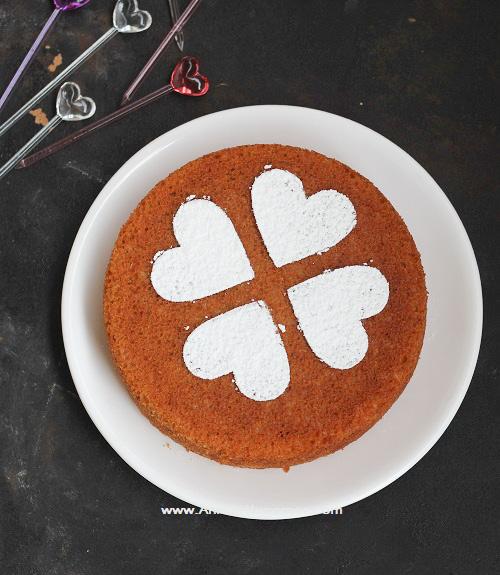 Eggless Stovetop Sponge Cake