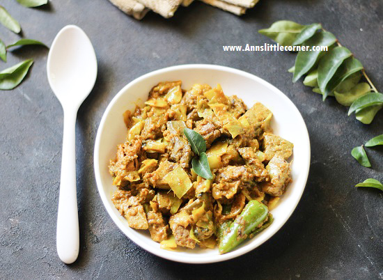 Cabbage Mutton Liver Masala