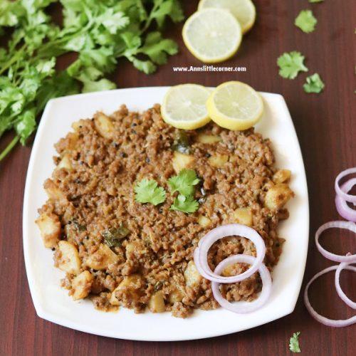 Potato Mince Meat / Aloo Kheema