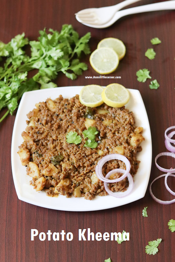 Potato Kheema / Aloo Kheema