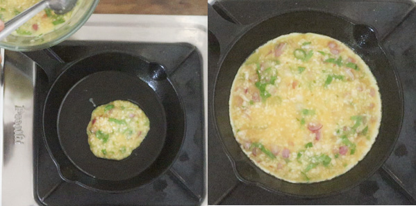 Coconut Egg Omlette