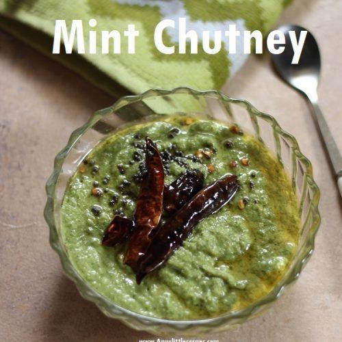 Mint Chutney / Pudina chutney