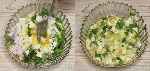 Cabbage Omelette Step