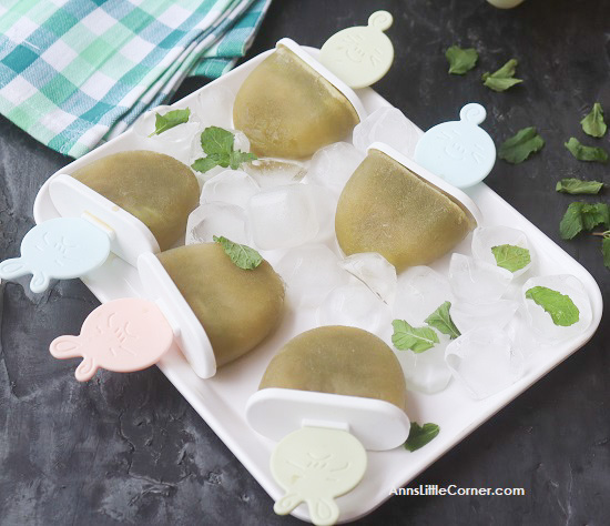 Gree Grape Mint Popsicles