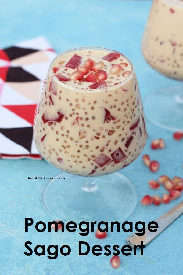 Pomegranate Sago Gulaman / Pomegranate Sago Jelly dessert