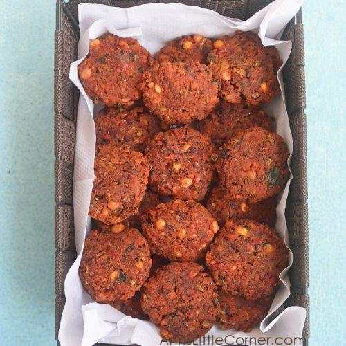 Beetroot Vada / Beetroot Lentil Fritters