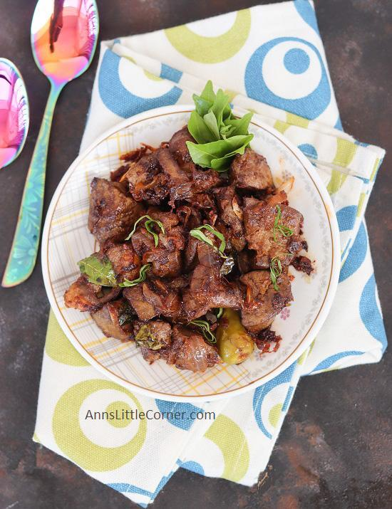 Mutton Liver Dry Roast