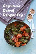 Capsicum Carrot Pepper Fry