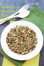 Mushroom Spinach Egg Podimas